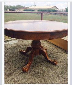 My new old table Pedestal, Dining Table, Furniture, Home Decor, Decoration Home, Room Decor, Dinner Table, Home Furnishings, Dining Room Table