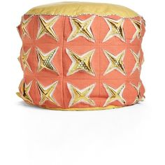 Nordstrom at Home 'Fortune Fray' Pouf ($66) ❤ liked on Polyvore