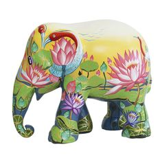 Elephant Parade Webshop - Be part of it! Amazing Lotus - All elephants - Elefanten Happy Elephant, Elephant Love, Elephant Art, African Forest Elephant, Asian Elephant, All About Elephants, Elephas Maximus, Baby Elefant, Cow Parade
