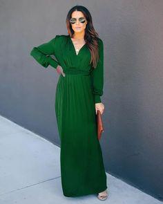 Deep V Long Sleeve Swing Dress – Stylnbo Tie Dress, Belted Dress, Colorful Fashion, Boho Fashion, White Midi Dress, Fall Dresses, Swing Dress, Bohemian Style, Long Sleeve