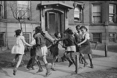 Happy Black School Children Circle Dance! 4x6 Reprint Of Old Photo