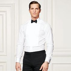 Bond Pleated Tuxedo Shirt - Purple Label Best Sellers - RalphLauren.com
