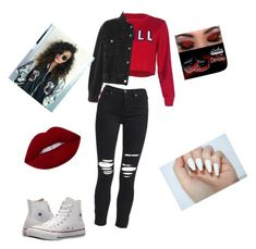 """Untitled #3"" by nia-lind on Polyvore featuring Topshop, AMIRI and Converse"