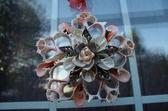 Handmade Seashell Window Ornament by Fromtheseacreations on Etsy, $25.00