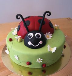 For Ellas Birthday, surround with ladybird cupcakes or ladybird strawberries