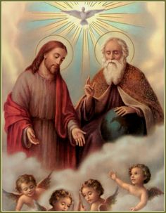 """""""Glory to the Father, the Son, and the Holy Spirit; to God who is, who was, and who is to come."""" (Revelations 1:8)"""