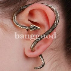 Shop Unique Earrings At Great Prices! Check Out Our Selection Of Cute Earrings, Studs, Spacers, Ear Cuffs & More + Get Off Your First Order! Snake Earrings, Snake Jewelry, Ear Jewelry, Cuff Earrings, Body Jewelry, Clip On Earrings, Jewelry Accessories, Jewelry Design, Unique Jewelry