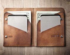 Men's Leather wallet, Men's Wallet, Thin Leather Wallet, Minimal Leather Wallet 005 by MrLentz on Etsy Leather Card Wallet, Handmade Leather Wallet, Leather Keyring, Front Pocket Wallet, Slim Wallet, Men Wallet, Sacoche Holster, Minimal Wallet, Handmade Wallets