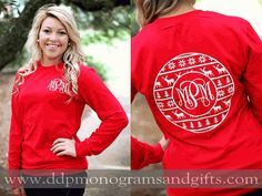 Personalized gifts for all occasions - baby, wedding, graduation and more; adding a personal touch is easy when you shop with us. Monogram T Shirts, Vinyl Shirts, Personalized T Shirts, Monogrammed Ideas, Christmas Vinyl, Christmas Shirts, Christmas Monogram Shirt, Vinyl Designs, Shirt Designs