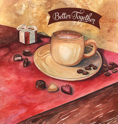 Better Together - Kimberton Whole Food's February Flyer on Behance Coffee love, chocolate, Valentine's Day, Latte