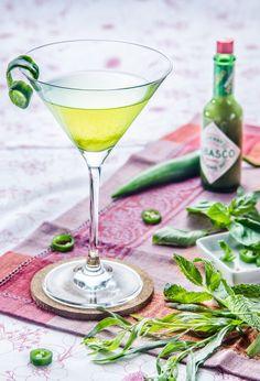 Spicy Vodka Greentini | Chasing Delicious