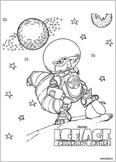 playground coloring page artoon ice age 3 dawn of the dinosaurs ice age coloring pages pinterest tecknad serie lekplatser och dinosaurier - Ice Age Characters Coloring Pages