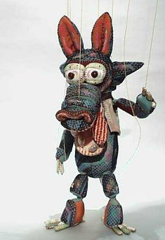 Big bad wolf marionette by Puppet-house