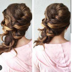 braided sideswept wedding hair  ~  we ❤ this! moncheribridals.com