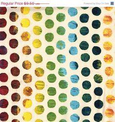 Autumn Sale Michael Miller Studios - Edges Collection - Ombre Circle - Multi - 1 yard -Cotton Fabric