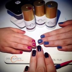 """GelMoment is safe for kids because it's an LED light that is used to cure not a UV light. L to R, """"Satin Princess"""", """"Smokey Sky"""" & """"Jasmine Cherry"""" 1 step, no drying time, no odor, vegan. www.GelMomentLove.com Mother Day Gifts, Gifts For Mom, Great Gifts, Liquid Nails, Gel Polish, Pretty Nails, Jasmine, The Cure, Cherry"""