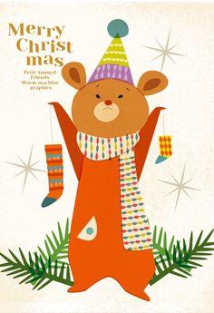 Christmas Illustration, Illustration Art, Illustrations And Posters, Jingle Bells, Merry Xmas, Cat Art, Vintage Christmas, Art For Kids, Banner