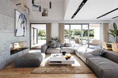 Projekt domu Hiacynt 210,18 m2 - koszt budowy - EXTRADOM Modern Family House, Modern Bungalow House, House Plans Mansion, Dream House Plans, Cool House Designs, Modern House Design, Small Apartment Plans, Architect Design House, Beautiful House Plans
