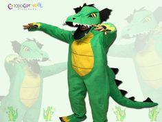 Con este #disfrazoriginal de #dragón para adultos  podrás ser el hazme reír en tu fiesta de #disfraces , #carnaval o #halloween. Visita nuestra web : www.todocarnaval.com