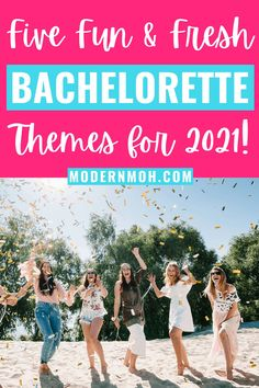 Say goodbye to those overused and outdated bachelorette party themes and check out our five fresh ideas for 2021 and beyond! #bachelorettepartythemes #bachelorettepartythemeideas #ModernMaidofHonor #ModernMOH Bachlorette Themes, Bachelorette Party Quotes, Bachelorette Party Planning, Wedding Planning, Maid Of Honor Speech, Wedding Images, Wedding Ideas, Diy Party, Party Ideas