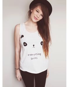 Everything sucks Panda shirt!