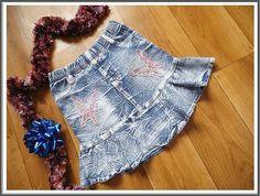 A skirt for a girl. Butterflies. Mini Skirt. Blue. Birthday