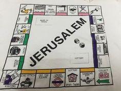Monopoly-Board-Game-T-Shirt-Jerusalem-Knesset-Israel-Egged-Underground-Vintage