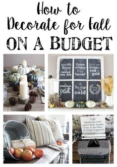 How to Decorate for Fall on a Budget | http://blesserhouse.com