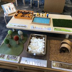 We're Going on a Bear Hunt Small world play! How sweet! Retelling Activities, Classroom Activities, Book Activities, Preschool Activities, Bears Preschool, Play Based Learning, Learning Centers, Early Learning, Teddy Bear Crafts