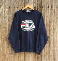 Vintage FILA Classic Crewneck Sweatshirt/ Fila Big Logo Streetwear Swag Hip Hop Style Large Size