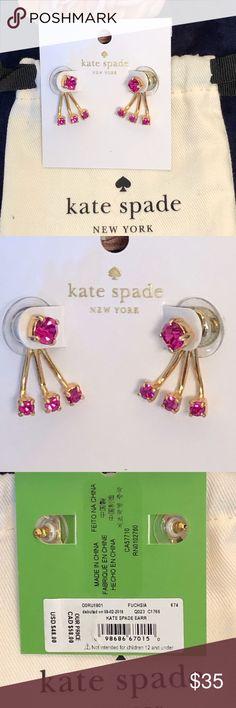 effe1506e3cd KATE SPADE Pink Sparkling Ear Jackets Sweet dainty pink ear jackets by Kate  Spade NWT KSNY