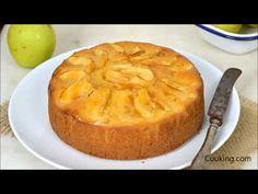 Bizcocho de manzana fácil y jugoso, receta paso a paso con vídeo Apple Cake Recipes, Lidl, Canapes, Sin Gluten, Flan, Banana Bread, Deserts, Food And Drink, Cupcakes