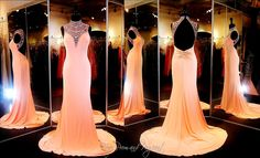 You will definitely turn heads in this sexy Jersey Gown! It has the most beautiful beaded high neckline and a fabulous low open back. ONLY at Rsvp Prom and Pageant, Atlanta, GA or BUY it NOW at http://rsvppromandpageant.net/collections/long-gowns/products/coral-jersey-prom-or-pageant-dress-high-beaded-neckline-low-open-back-115bp0x23200375