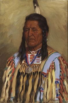 Native American Joseph Henry Sharp Chief Two Leggins by griffinlb, via Flickr