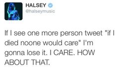 Halsey cares and loves you too #StayStrongAnna #BeautifulAnna