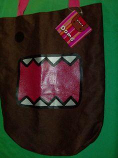 Domo Kun Tote Bag - Brown Large Shoulder Courier Bag Monster Face Anime Licensed