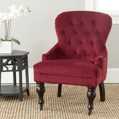 Safavieh Sutton Tufted Red Arm Chair - Overstock™ Shopping - Great Deals on Safavieh Living Room Chairs