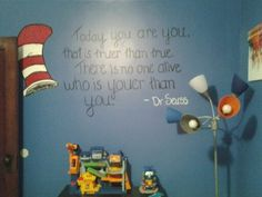Dr Seuss Playroom Mural I Painted For My Childrens New