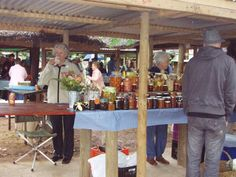Lovely community food market in the pretty town of Greyton, in the Overberg. Every Saturday morning Cape, Marketing, Table Decorations, Food, Mantle, Cabo, Essen, Meals, Coats