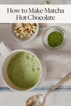 You need matcha hot chocolate in your life. Here's how to make our new favorite fall beverage.