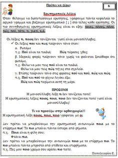 Picture Greek Language, Kids Corner, Grammar, Education, Teaching, Onderwijs, Learning