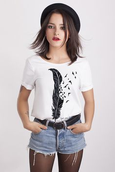 Camiseta LET YOU FLOW - chica de Costalamel por DaWanda.com