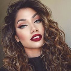 Warm Makeup and Red Lips