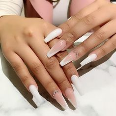 In search for some nail designs and some ideas for your nails? Listed here is our listing of must-try coffin acrylic nails for stylish women. White Acrylic Nails, Summer Acrylic Nails, Best Acrylic Nails, French Tip Acrylic Nails, Square Acrylic Nails, Aycrlic Nails, Swag Nails, Red Tip Nails, White Tip Nails