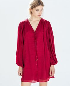 ZARA - WOMAN - DRESS WITH PUFFED SLEEVES