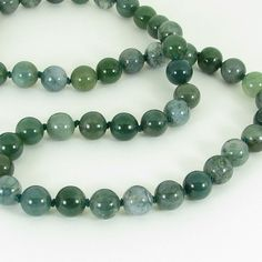 Moss Agate and Sterling Silver Necklace by bluesprucecrafts, $32.00