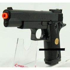 Spring Double Eagle Colt .45 1911 Pistol 200-FPS Airsoft Gun by Double Eagle. $11.22. Spring-powered airsoft guns are single-shot devices that use elastic potential energy (EPE) stored in a spring to compress air to launch an airsoft pellet down the barrel of the gun. It's fast, clean, inexpensive and easily maintained, it requires no gas or batteries to operate. The user must cock a spring gun prior to each shot. This is typically achieved by pulling back the slide (pistols...