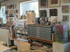 The studio of Claudia Lee at Liberty Paper