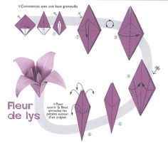 Origami image Fleur de Lys – How to make Origami 3d, Origami Ball, Origami Dragon, Origami Fish, Origami Butterfly, Paper Crafts Origami, Useful Origami, Origami Design, Origami Stars