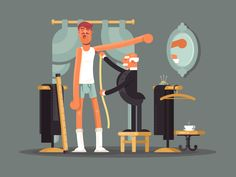 Tailor shop by Anton Fritsler (kit8) #Design Popular #Dribbble #shots